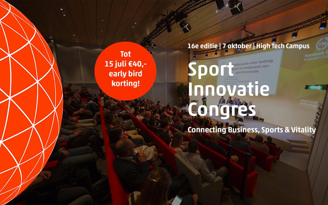 Early bird korting Sport Innovatie Congres verloopt zondag!
