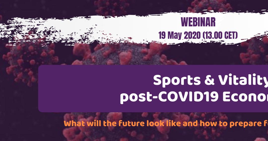 Webinar Sports & Vitality in post-COVID19 Economy