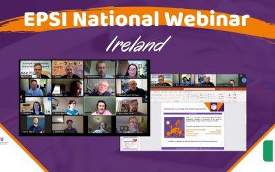 Cluster Sports & Technolgy droeg bij aan 'EPSI Nationaal Webinar – Ierland'