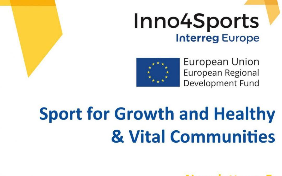 Nieuwsbrief nr. 5 project Inno4Sports Online